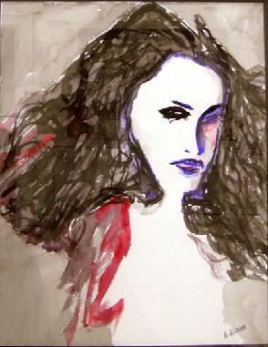Watercolor on Paper entitled 'Roberta'