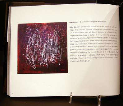 Book Page Featuring Mike Bloom's work in Aleatoric Art Book