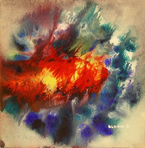 Watercolor Painting on Paper entitled 'Burst 2'