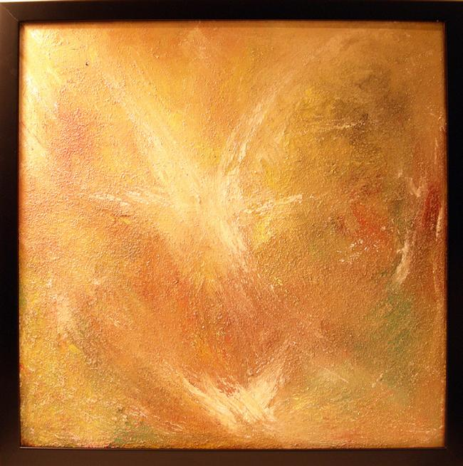 Acrylic Painting on Canvas Entitled 'Desert Star' - 16 in. x 16 in.